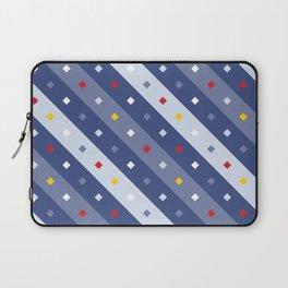 Blue Confetti Stripes Pattern Laptop Sleeve