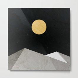 Gold Moon Metal Print