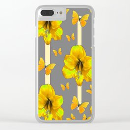 """AMARYLLIS """"  LOVE OF BUTTERFLIES""""   DECO Clear iPhone Case"""
