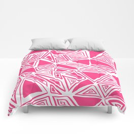 Triangles Pink Comforters