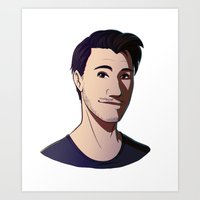 markiplier Art Prints featuring Markiplier by Kiwa