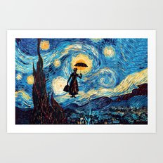 mary poppins Starry Night oil painting iPhone 4 4s 5 5c 6, pillow case, mugs and tshirt Art Print