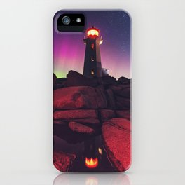 The Northern Lighthouse iPhone Case