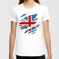 british flag T-shirts featuring British Flag Pride by northside