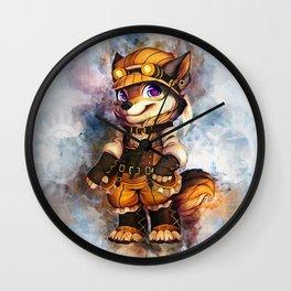 Steampunk Wolf Wall Clock