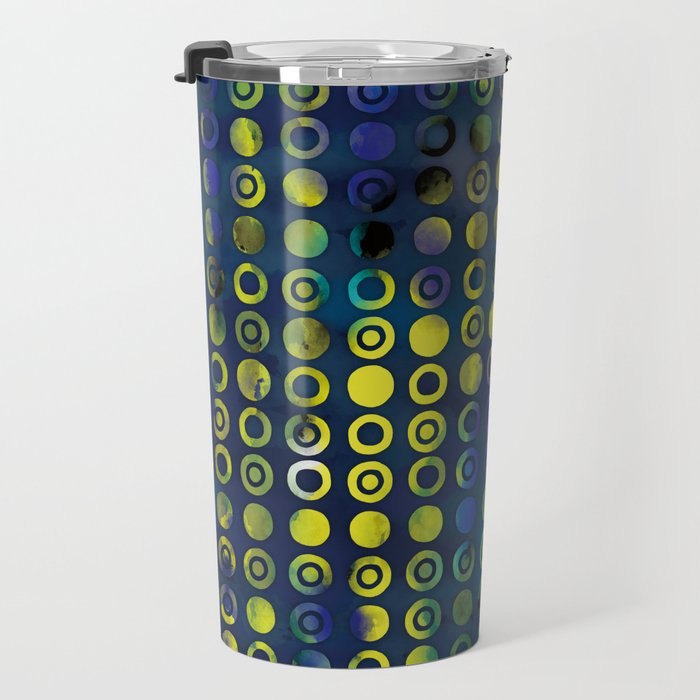 gold&blue Travel Mug