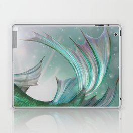 Mermaid, Ocean Sea, Pastel Purple,Teal, Green Laptop & iPad Skin