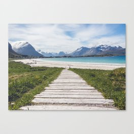 Mountain Walkway Canvas Print