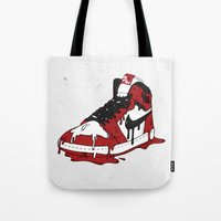 air jordan Tote Bags featuring Air Jordan I by shoooes