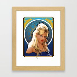 Art Nouveau Girl Framed Art Print