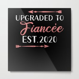 Engagement Fiancee Metal Print
