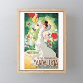 1941 SPAIN Andalucia Springtime Festivals Poster Framed Mini Art Print