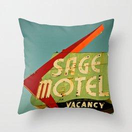 Wise Man's Motel Throw Pillow