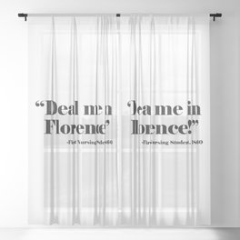 Deal Me In Florence Sheer Curtain