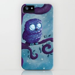 Owl & the stars iPhone Case