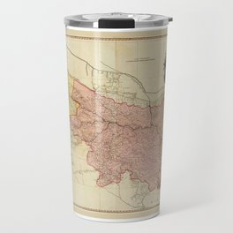 Map of Bengal, Bahar, Oude and Allahabad, India by James Rennell (1786) Travel Mug
