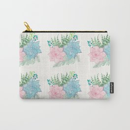 Pastel Succulent Watercolor Carry-All Pouch