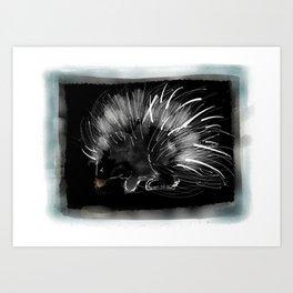 Pip the porcupine Art Print