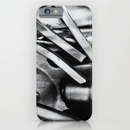 Machine Part BNW Abstract III Poster Print iPhone Case