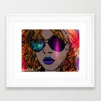 blondie Framed Art Prints featuring BLONDIE by AZZURRA DESIGNS