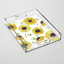 Sunflowers Acrylic Tray