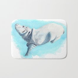 Baby Hippo On Toe Underwater Fantasia Ballet Bath Mat