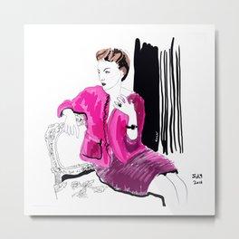 Fashion illustration. Barocco Metal Print