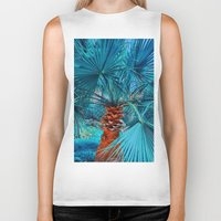 palm tree Biker Tanks featuring Palm Tree by DistinctyDesign