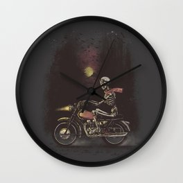 Death Rides in the Night Wall Clock