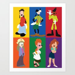 goofy movie characters Art Print