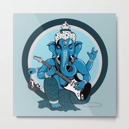 Ganesha rocks ! (v2) Metal Print