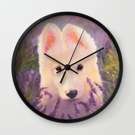 In the lavender fields Wall Clock