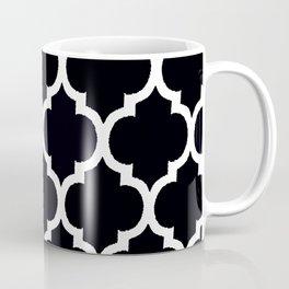 Moroccan Black and White Lattice Moroccan Pattern Coffee Mug