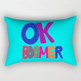 OK BOOMER in 1960s colors Rectangular Pillow