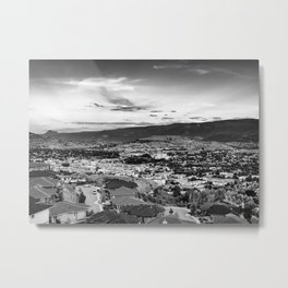 Okanagan Cityscape 02 BW Metal Print