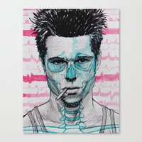 tyler spangler Canvas Prints featuring Tyler Durden by Bronsolo