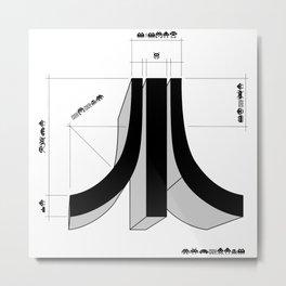 Space Invader LogoAtari Metal Print