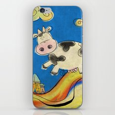 Cow - blue iPhone & iPod Skin