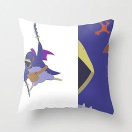 fierce prinny Throw Pillow