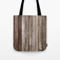 wooden Tote Bags featuring Wooden Texture by Patterns and Textures