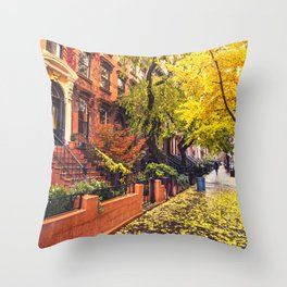 Autumn in Brooklyn Throw Pillow