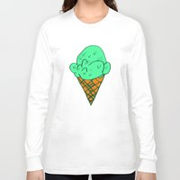 icecream Long Sleeve T-shirts featuring ICECREAM by SLUGSPOON