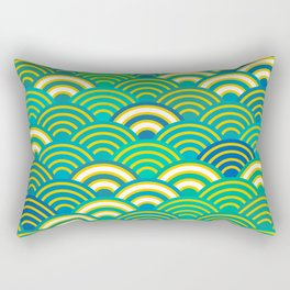abstract scales simple Spring Nature background with japanese circle Rectangular Pillow
