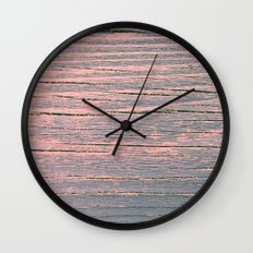 Rustic pastel weathered wood Wall Clock