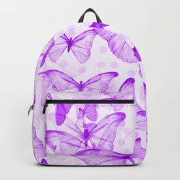 Butterflies In Violet Color - White Background #decor #society6 #buyart Backpack