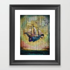 Over Seas Framed Art Print