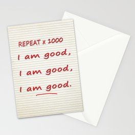 I Am Good Stationery Cards