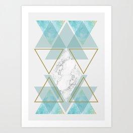 Triangle Art Art Print