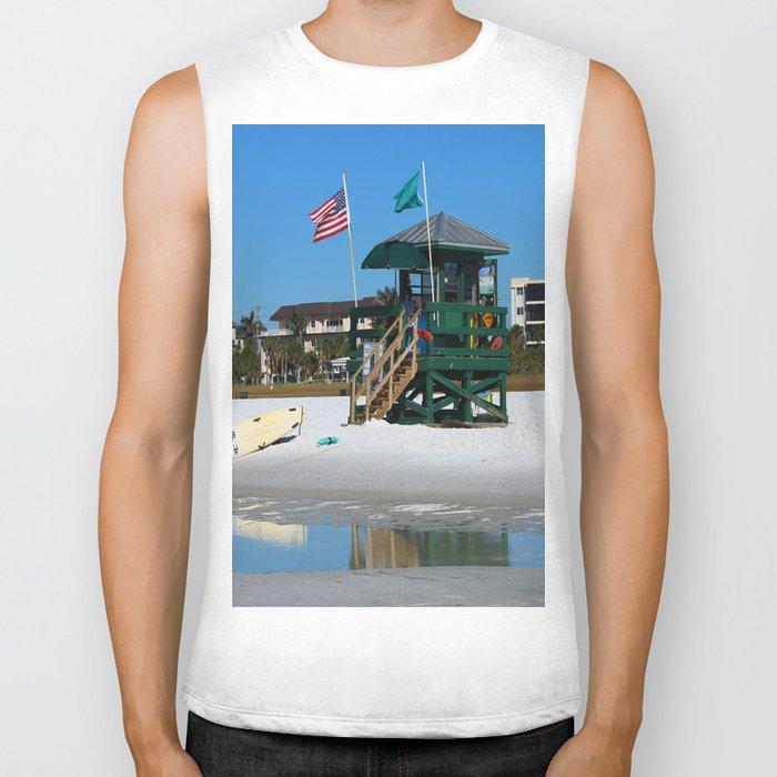 Welcome To Siesta Key Beach Biker Tank
