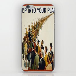 Vintage poster - Step into your place iPhone Skin